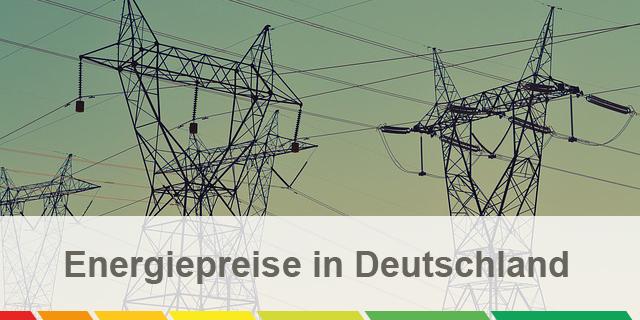 Energiepreisentwicklung – Infografik