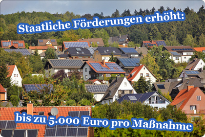 Förderungen, Zuschüsse, bis 5.000 Euro möglich
