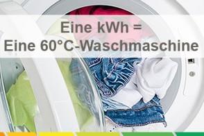 Eine 60°C-Waschmaschine Verbraucht Eine KWh .