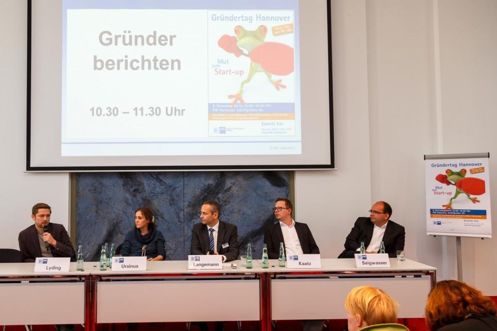 Podium Gründertag 2014 Hannover