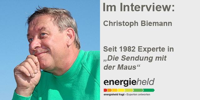 """Energieheld Fragt: Christoph Biemann (seit 1982 In Der """"Sendung Mit Der Maus"""" Zu Sehen."""
