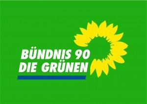 Hier sehen Sie das Logo der Partei Bündnis 90/ Die Grünen.