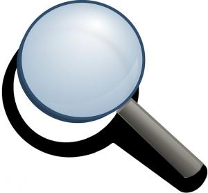 Eine Lupe steht als Symbol für Transparenz.