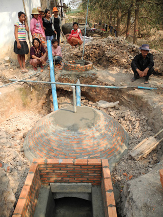 Biogasanlage in Kombodscha