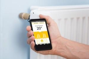 Mit dem Smartphone die Temperatur im eigenen Zuhause regeln.