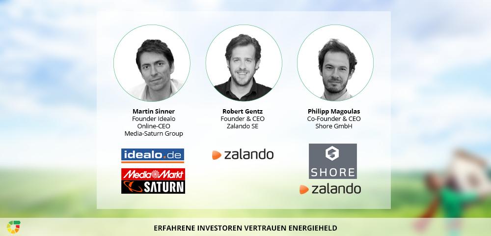 Martin Sinner, Robert Gentz und Philipp Magoulas haben bereits in energieheld investiert