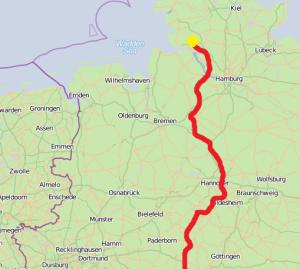 Der geplante Verlauf der Südlink-Trasse