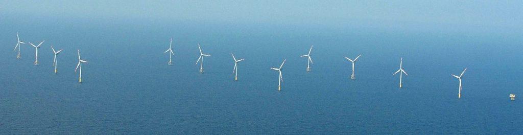 """Der Offshore Windpark """"Alpah Ventus"""" in der Nordsee"""
