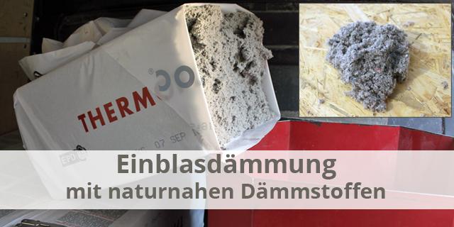 Blog Beitragsbild Einblasdämmung Naturnahe Daemmstoffe Zellulose