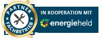 Auszeichnung Qualitässiegel - Fachpartner von energieheld