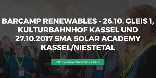 Barcamp Renewables 2017