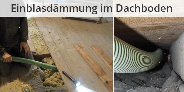Blog Beitragsbild Dachboden Einblasdämmung Heimwerker Tipp
